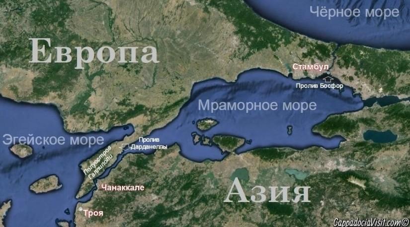Турция закрыла Дарданеллы для международного судоходства