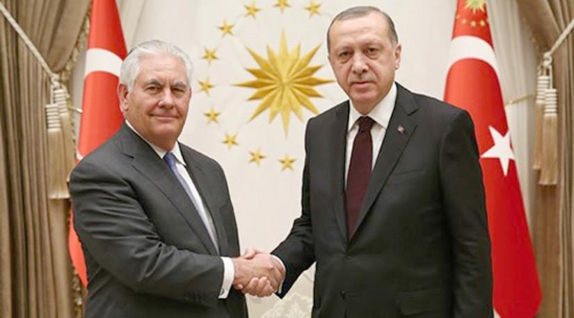 Эрдоган принял в Анкаре госсекретаря США Рекса Тиллерсона